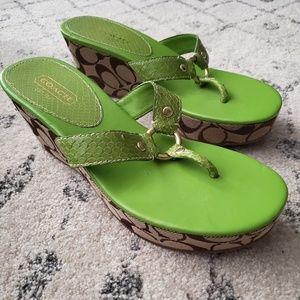 Coach Evita Wedge sandal